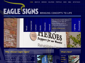 Eagle Signs Website, Plymouth, Devon