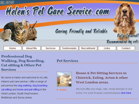 Helen's Pet Care - Pet Services, London
