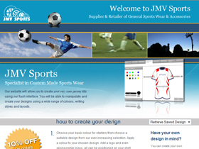 JMV Sports - Football & Basketball Kit Design, Surrey