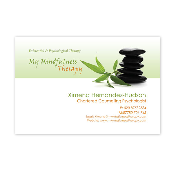 My Mindfulness Therapy Carte de Visite