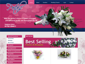 Petals Florist Website, Plymouth, Devon