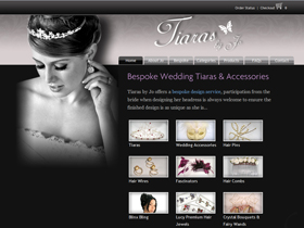 Tiaras by Jo Website, Sidmouth, Devon