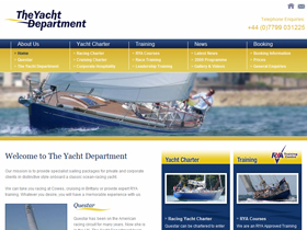 The Yacht Department Website, Plymouth, Devon