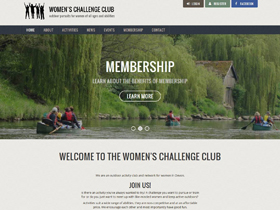Women's Challenge Club Website, Ivybridge, Devon